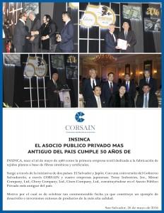Felicitacion 50 AÑOS INSINCA
